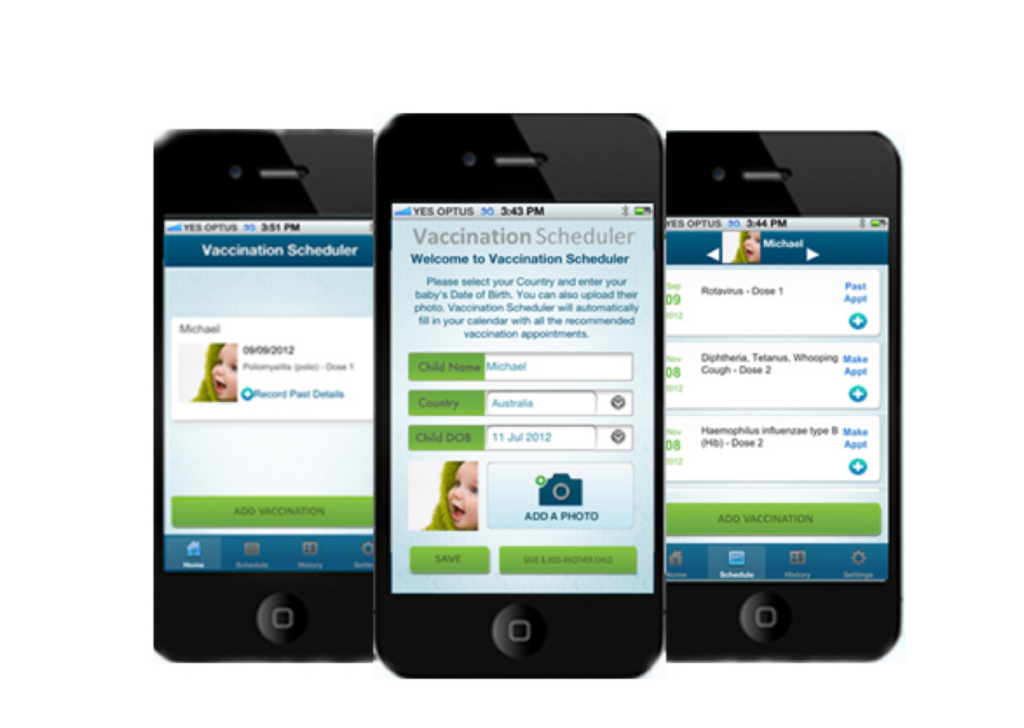 Vaccination Scheduler - iPhone App