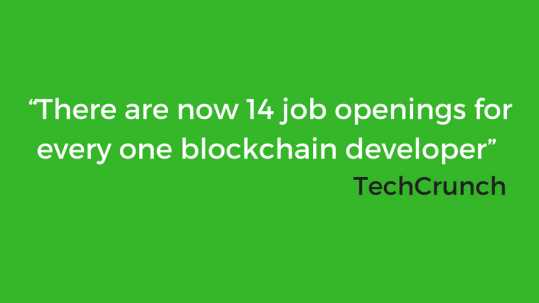 A staffing shortfall and skills gaps is coming to blockchain